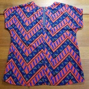 Fun & Flirt Tops - 👚 Fun & Flirt, bright chevron patterned blouse